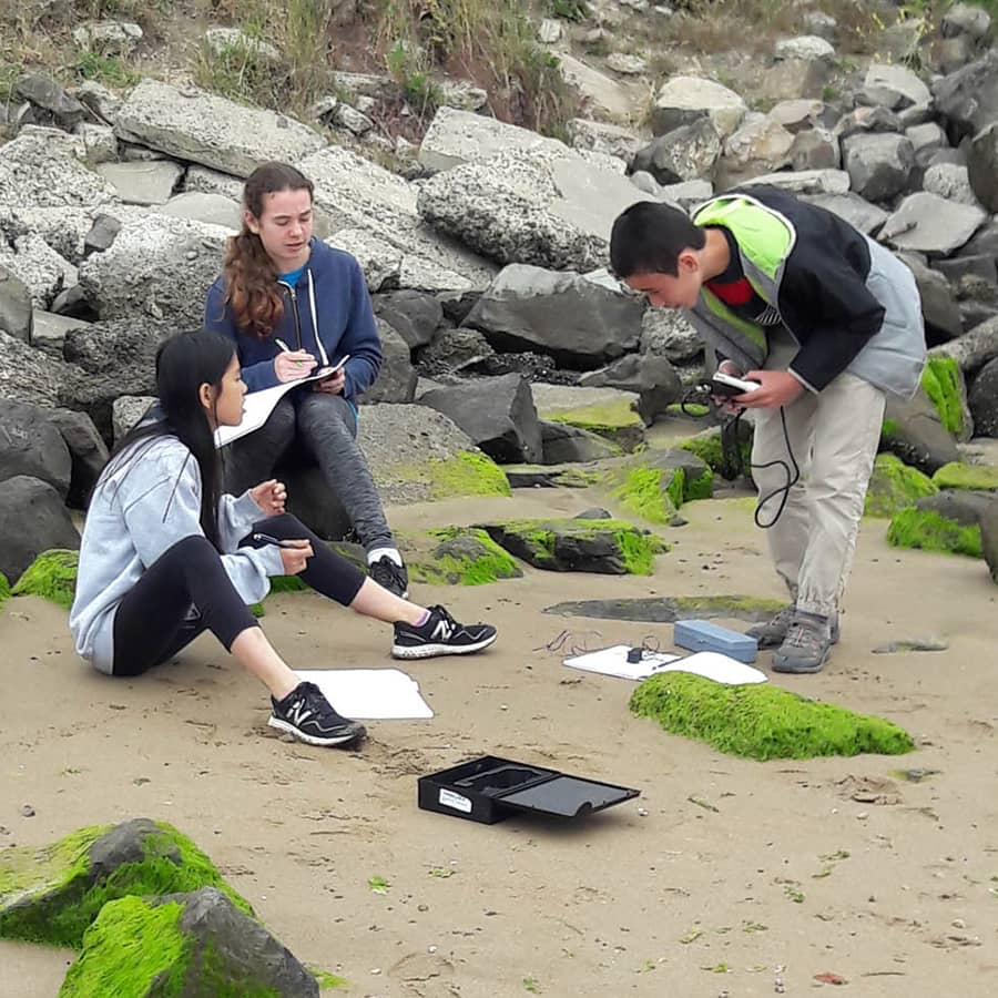 Crowden students on a science field trip
